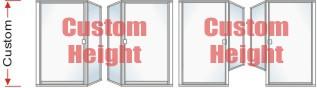 P1500 & P90 Series Custom Shower Door With Return Panel Up to 80 inch high