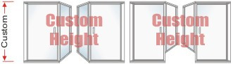 P2000 & P90 Series Custom Shower Doors With 90 degree Return Panel