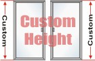 P3000 Series Standard Duty Semi-Frameless Swing-out Custom Shower Door