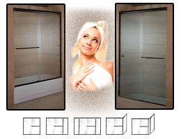 2000 Series Semi-Frameless Shower Doors