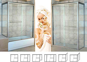 5000 Series Semi-Frameless Shower Doors