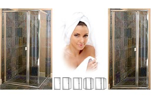 P1500 Series Standard Duty Semi-Frameless Swing-Out Shower Doors