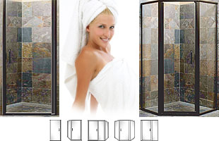 P2000 Series Heavy Duty Semi-Frameless Swing-Out Shower Doors