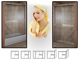 1000 Series Semi-Frameless Shower Doors