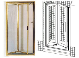 Bi-Fold and Roll-In-Tube Shower Doors