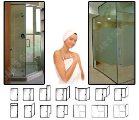 FL Series Custom Extra-Heavy Duty Frameless Hinged and Sliding Shower Doors         ** Huge Sale **