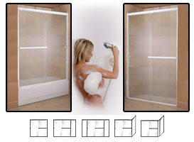 4000 Series Semi-Frameless Shower Doors