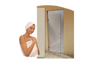 H5000 Heavy Duty Single Glass Shower Door with Wall Mount Hinge
