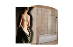 Heavy Glass Bath Screen