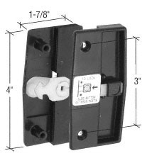 "Sliding Screen Door Latch and Pull With 3"" Screw Holes for 1/2"" Thick Columbia Doors - CRL A165_OS"