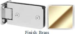 Brass Kars 786 Series Heavy Duty with Round Edges Wall Mount Full Back Plate Hinge - KA786B_BR