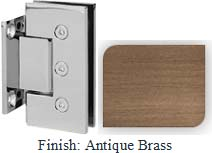 Antique Brass Masis 783 Series Heavy Duty with Square Edges Wall Mount Short Back Plate Hinge - MA783C_ABR