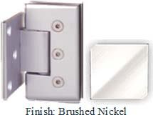 Brushed Nickel Masis 783 Series Heavy Duty with Square Edges Wall Mount Offset Short Back Plate Hinge - MA783C-2_BN