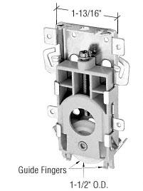 1-1//2 Nylon Ball Bearing Sliding Mirror Door Roller CRL N7125
