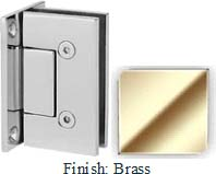 Brass VAN Series with Square Edges Wall Mount Full Back Plate Hinge - VA782B_BR