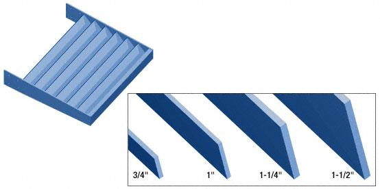 "CRL Powder Painted 6"" x 1/4"" Flat Bar Blade Extrusion - 146"" - AXF6X14PT"