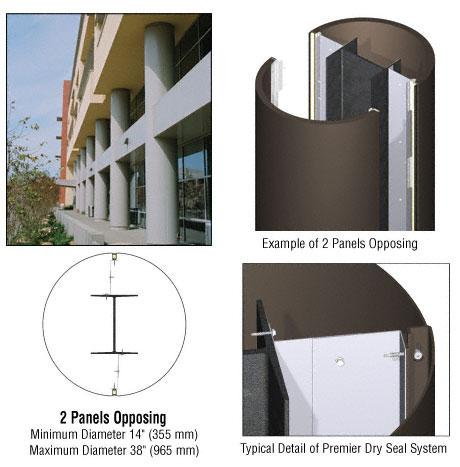 CRL Custom Oil Rubbed Bronze Premier Series Round Column Covers Two Panels Opposing - PCR20CORB