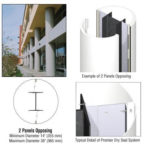 CRL Custom Bone White Premier Series Round Column Covers Two Panels Opposing - PCR20CBW