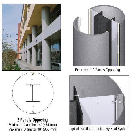 CRL Custom Mica Platinum Premier Series Round Column Covers Two Panels Opposing - PCR20CMP