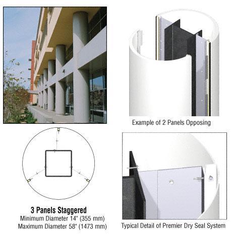 CRL Custom Bone White Premier Series Round Column Covers Three Panels Staggered - PCR30CBW