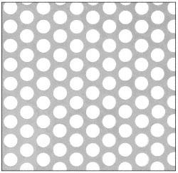 """CRL Custom Perforated Infill Panel - 1/2"""" Round Staggered Holes - PN1812PC"""