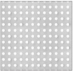 "CRL Custom Perforated Infill Panel - 1/4"" Round Straight Holes - PN1814PC"