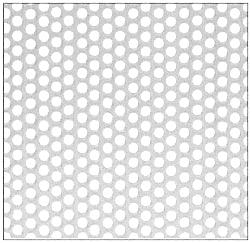"CRL Aluminum Mill 5x10 Perforated Infill Panel - 1/4"" Round Straight Holes - PN1814SP5X10A"