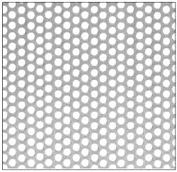 "CRL Brushed Stainless Perforated Infill Panel - 1/4"" Round Straight Holes - PN1814SPBS"