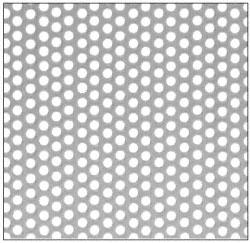 "CRL Custom Perforated Infill Panel - 1/4"" Round Straight Holes - PN1814SPC"