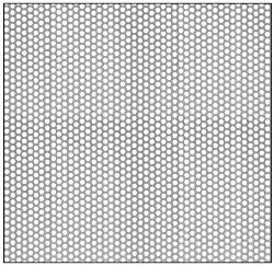 "CRL Custom 5 x 10 Perforated Infill Panel - Staggered 1/8"" Round Holes - PN1818PC5X10A"