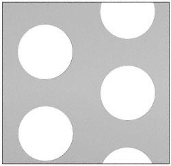 "CRL Custom Perforated Infill Panel - 2"" Round Holes - PN182PC"