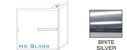TE-1000C-L Standard Tub Enclosure KD size 60 inch wide x 56-3/4 inch high, Showerhead Left, Brite Silver