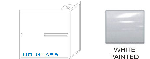 TE-1000C-L Standard Tub Enclosure KD size 60 inch wide x 56-3/4 inch high, Showerhead Left, White Painted