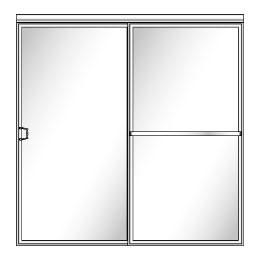 112 QUICK-SHIP Framed Sliding Glass Shower Doors - Shower Head on Left