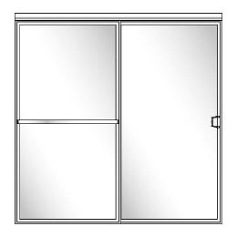 112 QUICK-SHIP Framed Sliding Glass Shower Doors - Shower Head on Right