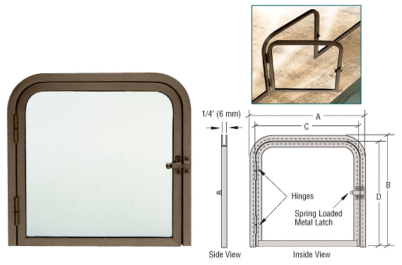 CRL 925DU Bronze Anodized 2-5//8 x 12-1//8 Deluxe Mail Slot With Glass Channel Bar and Latch