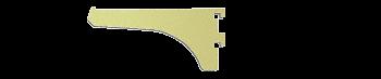 "CRL Brite Gold Anodized 4"" Aluminum Bracket CRL 122BGA4"