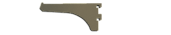 "CRL Duranodic Bronze 4"" Aluminum Bracket CRL 122DU4"