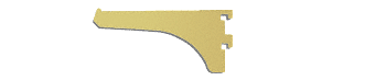 "CRL Gold Anodized 4"" Aluminum Bracket CRL 122GA4"