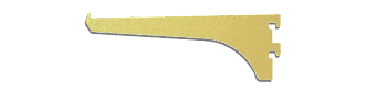 "CRL Gold Anodized 6"" Aluminum Bracket CRL 122GA6"