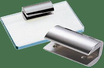 "CRL Chrome 2-3/4"" No-Drill Long Shelf Clamp for 1/2"" Glass CRL 1470CHR"