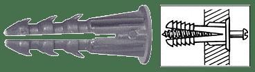 "CRL 1/4"" Plastic Screw Anchor with Shoulder - 500 Pack CRL 1339"