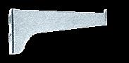 "CRL Anochrome 6"" KV Steel Bracket CRL 180A6"