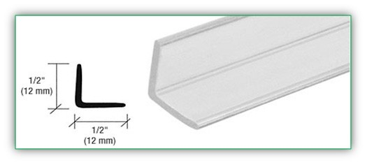 ANGLE JAMB FOR 1/4 INCH TO 1/2 INCH GLASS - SGAW POL2002-12