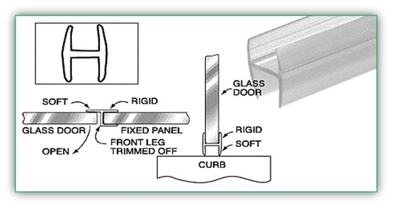 H WIPE FOR 5/16 INCH GLASS - SGAW POL2003-516