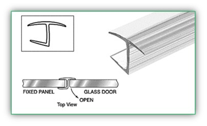 180 DEGREES  H JAMB FOR 3/8 INCH THICK GLASS - SGAW POL2006-10