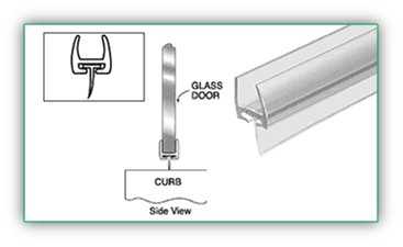 BOTTOM AND VERTICAL SEAL WITH FIN FOR 1/2 INCH THICK GLASS 31 inch Length - SGAW POL2009-12WF-31