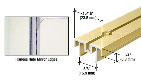 "CRL Gold Anodized 36"" Mirror Standard CRL 22GA36"