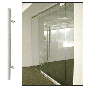 """CRL Brushed Stainless 24"""" Extra Length Ladder Style Single-Sided Pull CRL 24LPSBS"""