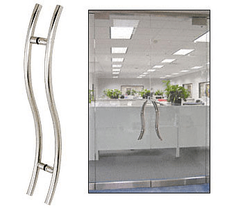 "CRL Polished Stainless 24"" Extra Length Left Handed ""S"" Ladder Style Back-to-Back Pull CRL 24SLPPS"
